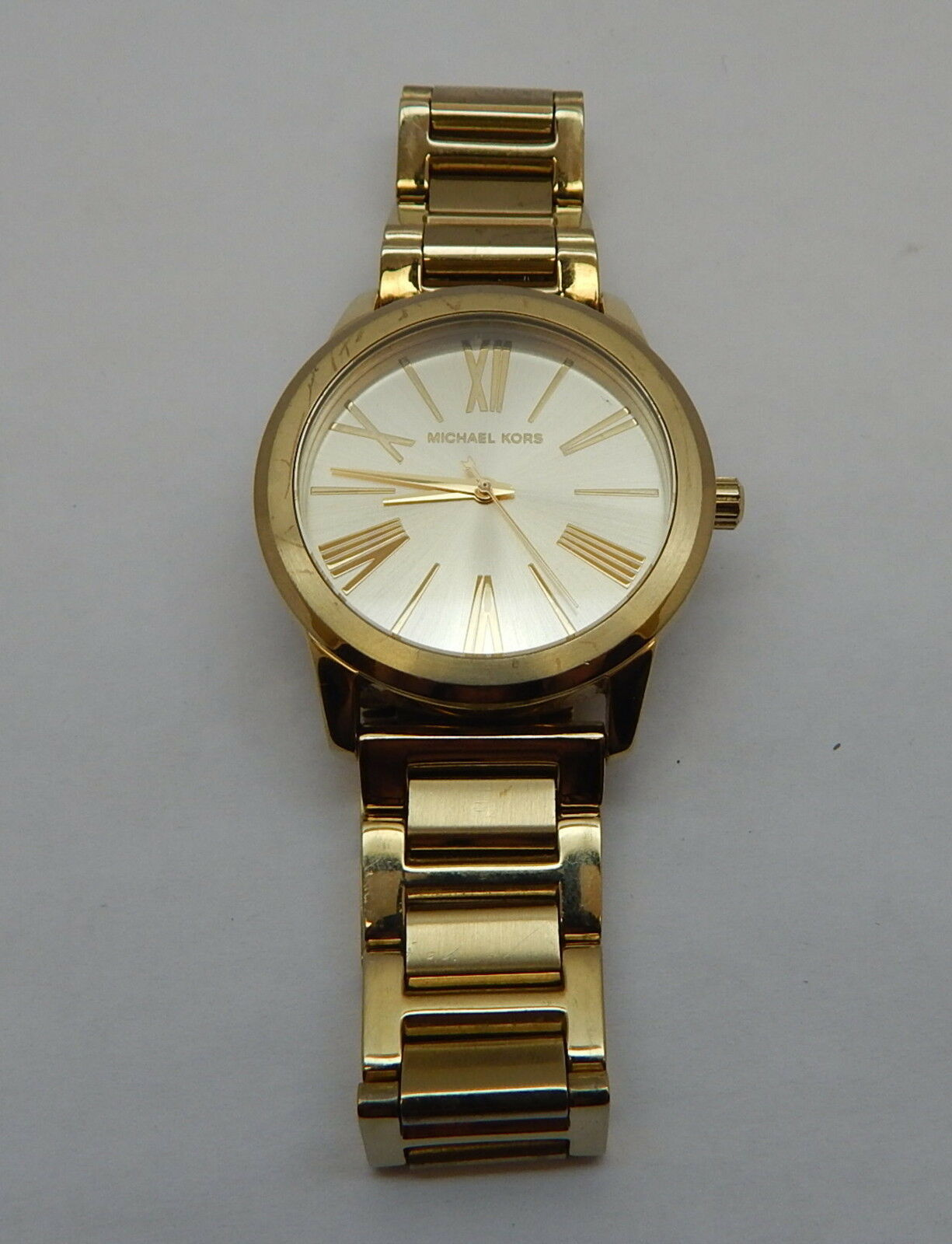 bf3a4b0deff2 Women s Michael Kors Hartman Gold Steel Tone Watch MK3490 for sale online