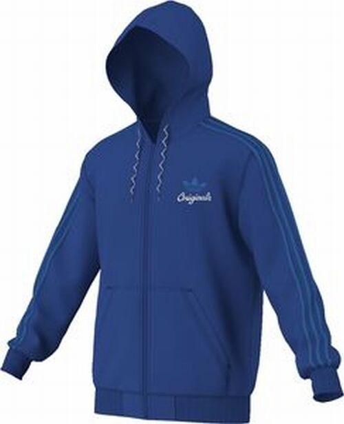 Adidas Sports Hooded Flock G8777 Hooded Sweatjakke blauw