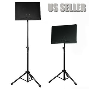 "Adjustable Conductor/Orchestra Sheet Music Stand Black ""Authorized Seller"""