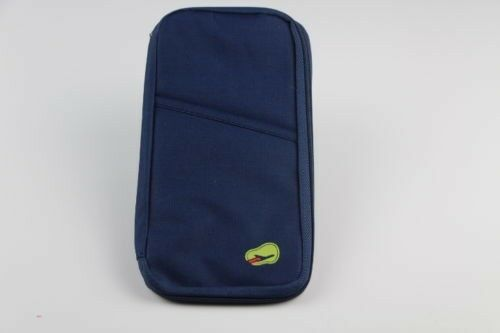 NEW TRAVEL WALLET PASSPORT HOLDER DOCUMENT POUCH SAFETY BAG CREDIT CARD STORAGE