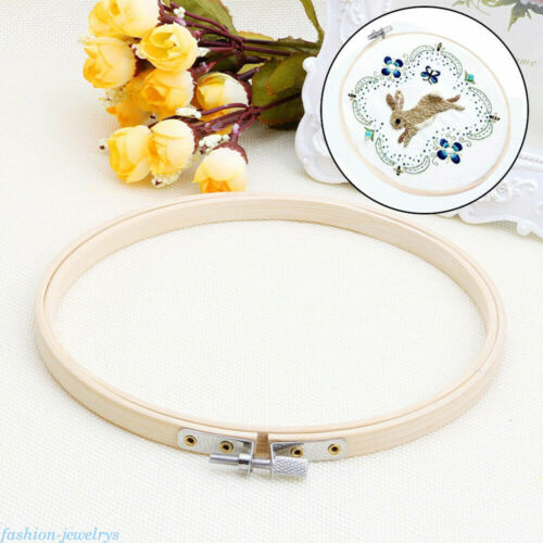 Wooden Frame Cross Stitch Machine Embroidery Hoop Ring Bamboo Sewing DIY Craft