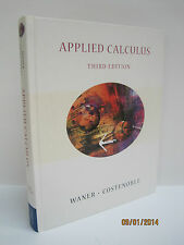 Applied Calculus (with InfoTrac) by Stefan Waner & Steven R. Costenoble, 3rd Ed.