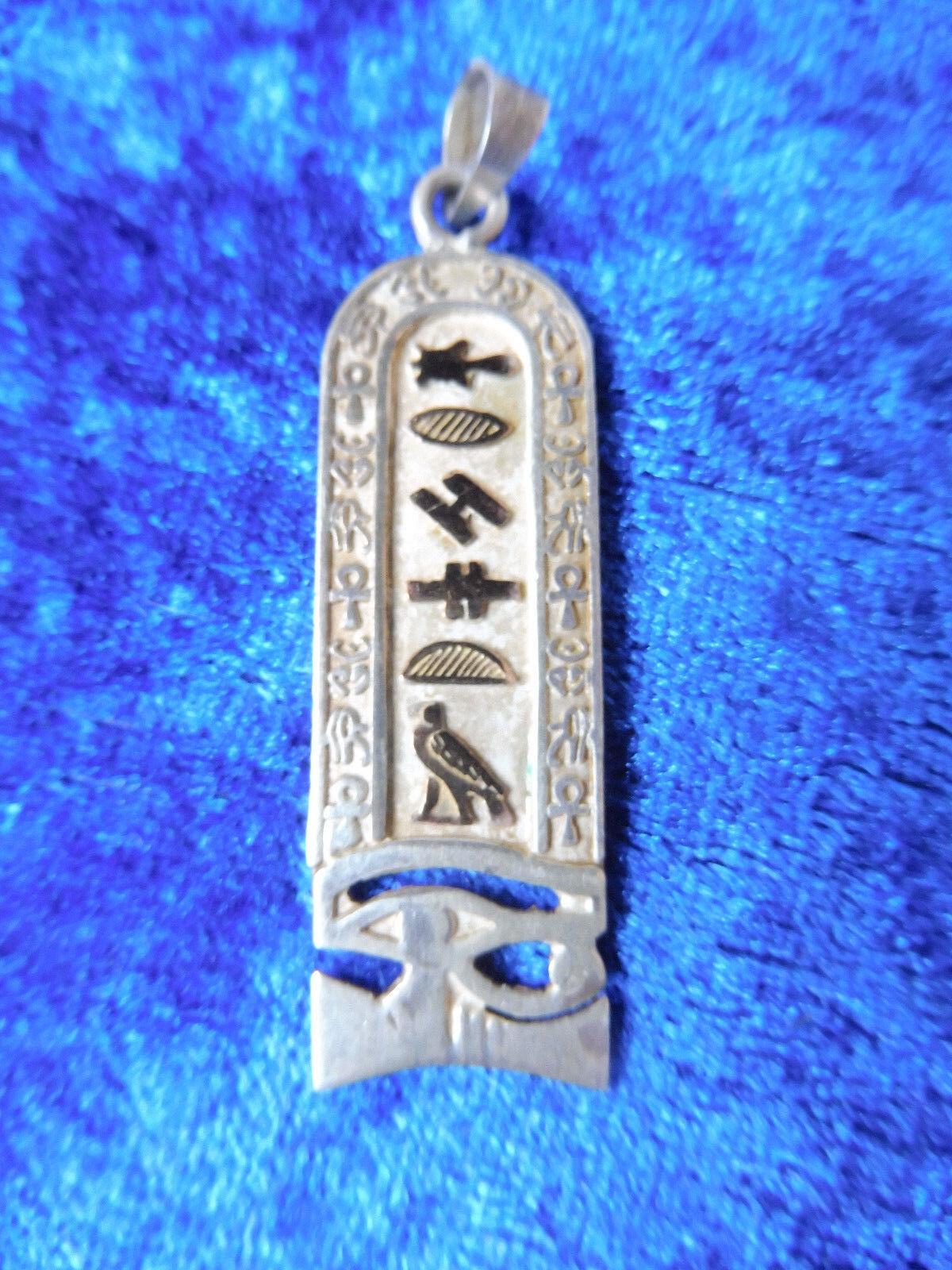 Schöner Anhänger__Kettenanhänger__925 silver und redgold__5cm__Ägypten_