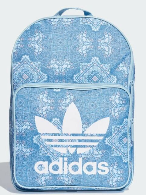 New Adidas Originals Trefoil Classic Backpack Bag Du7736 Blue White
