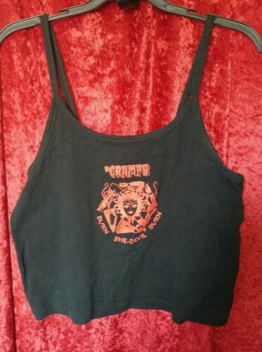 The Cramps Vintage Spaghetti Strap Tank Shirt, Bur