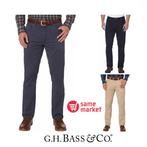 NEW-G-H-Bass-Men-039-s-Brushed-Twill-Pant-Size-amp-Color-VARIETY