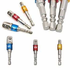 1-2-034-3-8-034-1-4-034-Bohrmaschinen-Bohrfutter-Adapter-Set-Bit-Stecknuss-Nuss-Halter-DE