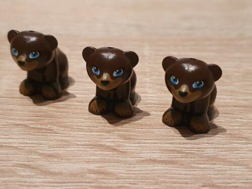Lego City Zoo 3er Set Bär braun Baby Braunbär neu Figur Tier neu unbespielt