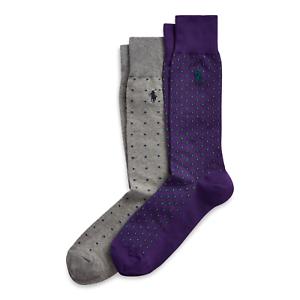 Polo Ralph Lauren Men/'s Dress Patterned Dress Socks 2 pack