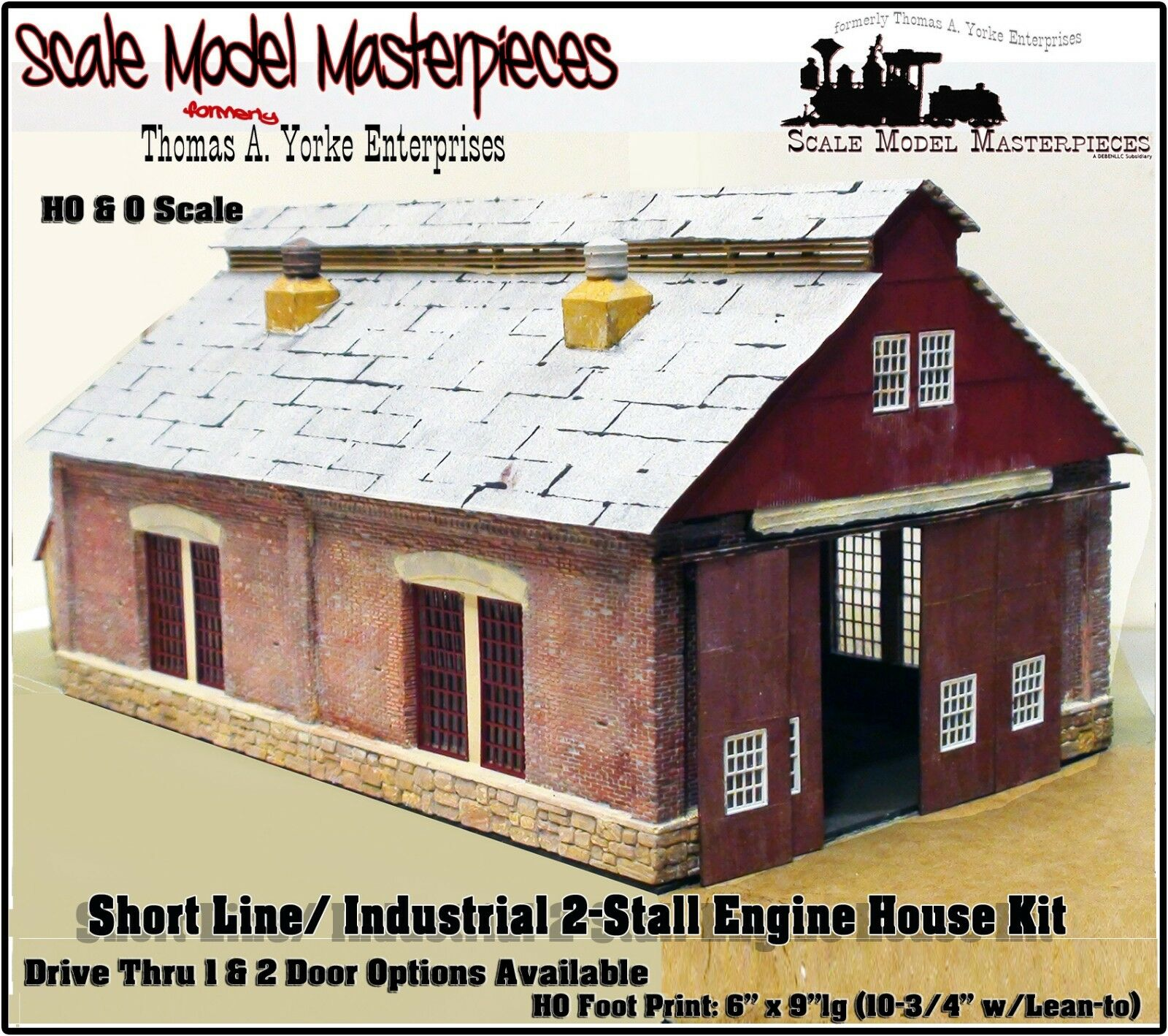 Scale Model Masterpieces Yorke 2-Stall Shortline Industrial Engine House Kit HO