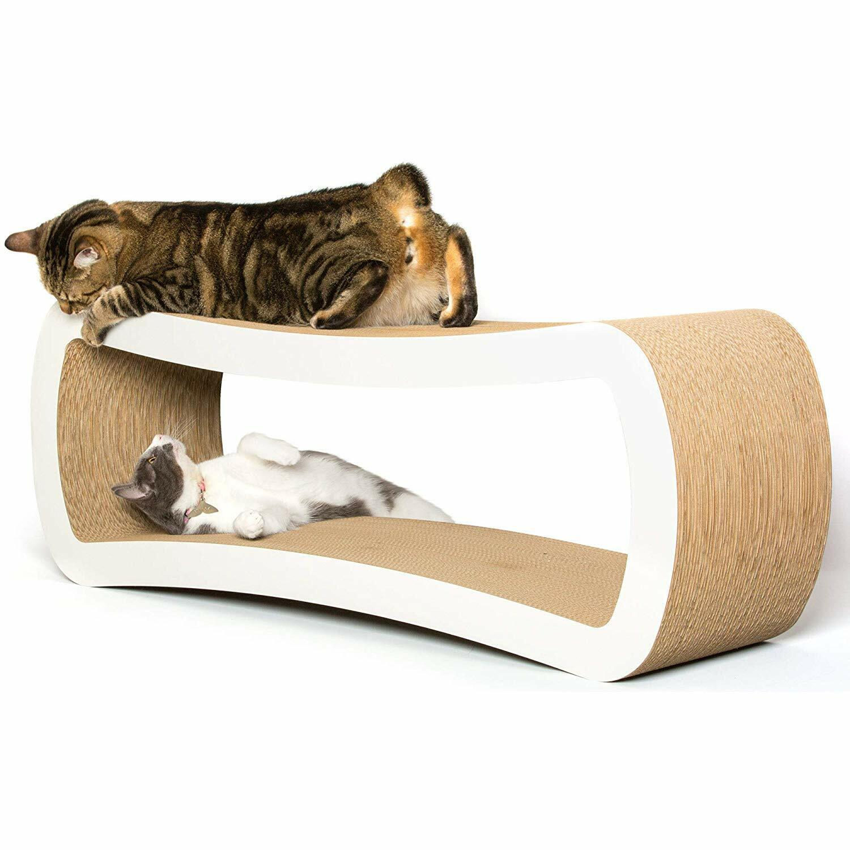 PetFusion Jumbo Cat Scratcher Lounge. [Superior Cardboard  Construction