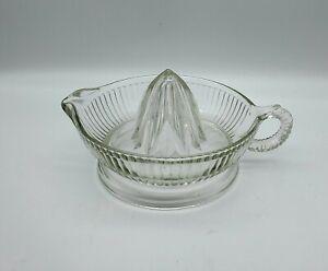 Vintage Ribbed Clear Pressed Glass Juice Reamer