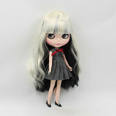 "12/"" Neo Blythe Doll Mix White/&Black Hair Factory Nude Doll from Factory JSW51011"