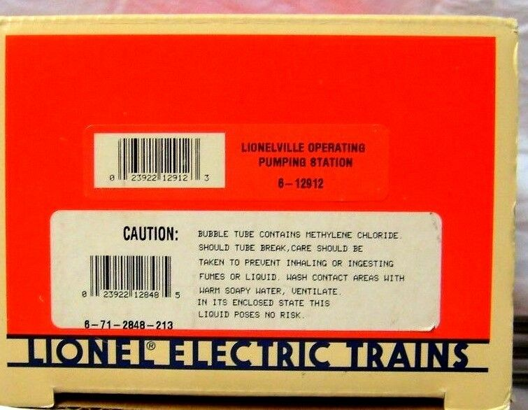 LIONEL 6-12912 OPERATING PUMPING STATION