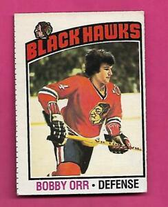 1976-77 OPC # 213 CHICAGO HAWKS BOBBY ORR GOOD CARD (INV# D7279)