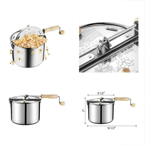Great Northern Popcorn Original Stainless Steel Stove Top 6-1//2-Quart Popper
