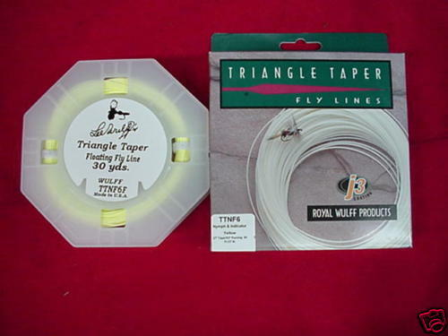 Royal Wulff Fly Line Triangle Taper  7 NYMPH GREAT nuovo