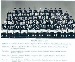 1964 CHICAGO BEARS TEAM 8X10 PHOTO WADE DITKA BULL NFL FOOTBALL GAME ... 734f841c6