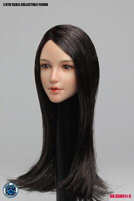 Super Duck  1//6 Female Blonde Curls Hair  Head for Phicen Body SDH011D