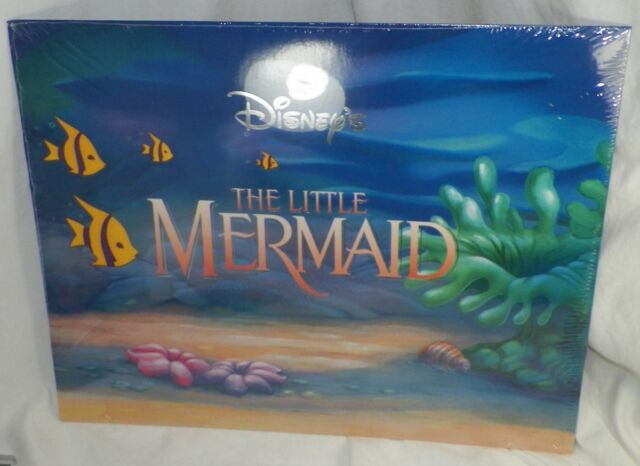 Disney Store The Little Mermaid Ariel Set Of 4 Lithographs With Folder NEW