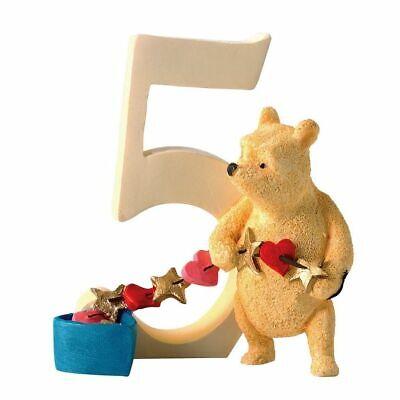 Classic Winnie Age 5 Pooh con Cuori Stelle Numero Compleanno Enesco