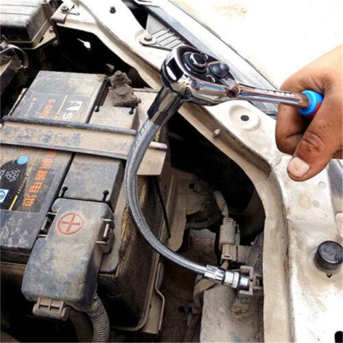 1//4/'/' 3//8/'/' 1//2/'/' Drive Flexible Shaft Socket Extension Bar Ratchet Wrench Tool