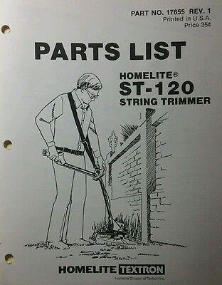 Homelite Gasoline String Trimmer ST-120 Parts Manual
