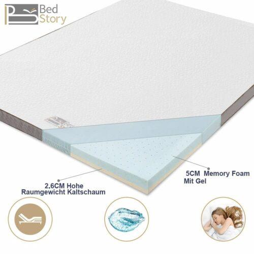 BedStory Gelschaum Memory Topper Matratze Matratzenauflage 90 140 160 180 H2
