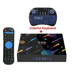 T95 Android 10.0 4+64G Quad Core 6K Smart TV BOX WIFI Netzwerk Media Player DHL