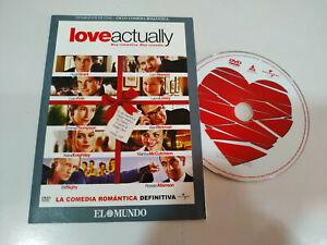 Love-Actually-Hugh-Grant-Liam-Neeson-DVD-Sobre-de-Carton-Espanol-Ingles-Region-2