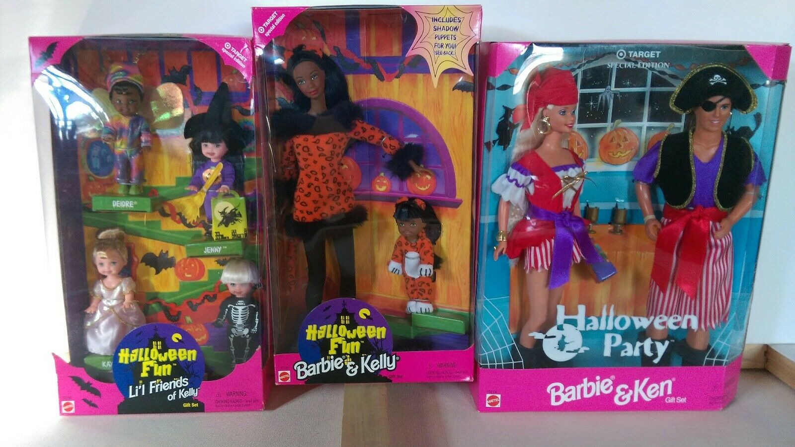 Lote de 3 edición especial de destino 1998 Colección diversión De Halloween Regalo Fiesta Set