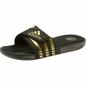 Details about Adidas Adilette Adissage Beach Sandals Slippers EG6517 Black  Gold