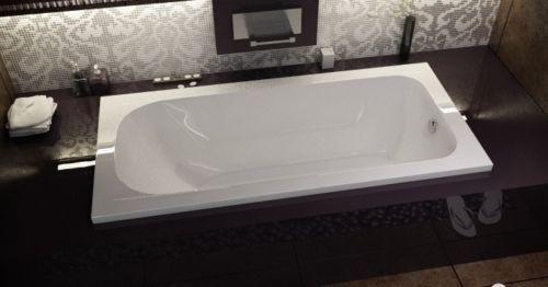 Rechteck Badewanne CONTINEA Wanne Acrylwanne 150x70 cm mit Füße