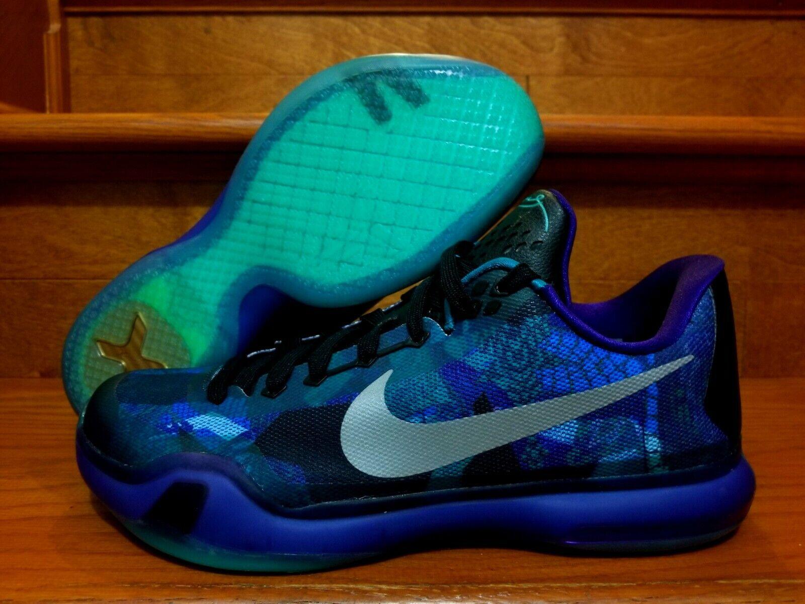 New Mens Nike Kobe X 10 Overcome Peach Jam Emerald Glow Sz 10 (705317 305)