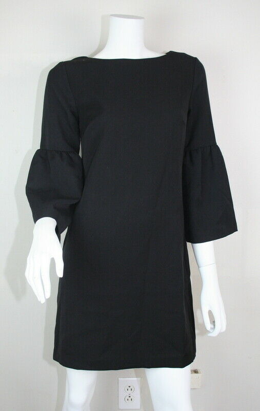 Banana Republic schwarz Boat Neck Bell Sleeve Sheath Dress 2 XS