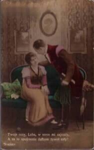 q77-Real-Photo-Postcard-Man-amp-Lady