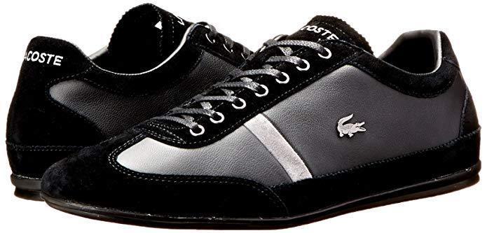 Lacoste Homme Misano 22 LCR mode paniers paniers Chaussures Noir 13 nouveau in Box