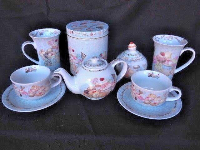 Thé Café Set 9 Pièces Lot La cerise sur le gateau Serving Set Vaisselle Vaisselle
