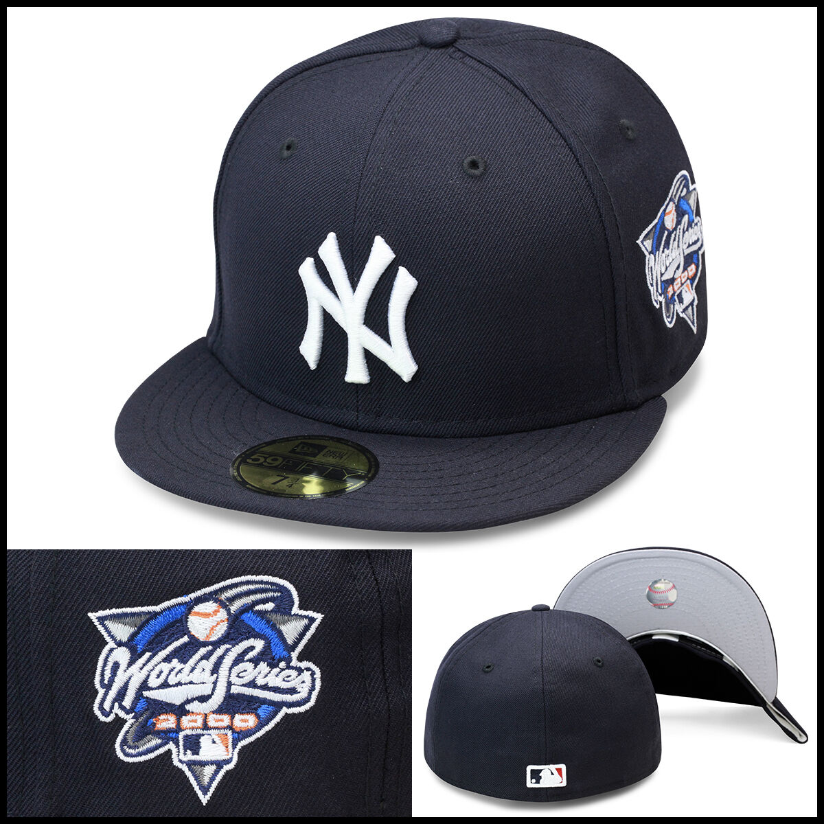 17172d7c76a ... netherlands new era new york yankees fitted hat cap 2000 world series  side patch mlb 02357