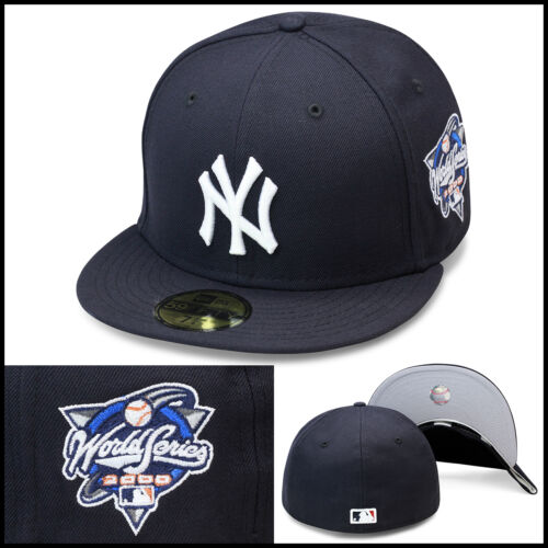 New Era New York Yankees Fitted Hat Cap 2000 World Series Side Patch MLB
