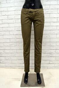 Pantalone-DONDUP-Donna-Taglia-Size-21-Jeans-Pants-Woman-Slim-Fit-Cotone-Elastico