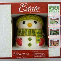 Estate Home Fragrance System Christmas Snowman W 3 Fragrance Packs -