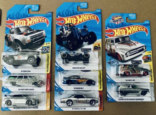 Hot Wheels Zamac Lot Of 8 Dodge Nova Impreza Mazda Chevelle Volkswagen Ford F100
