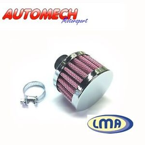 Quality-Engine-Breather-Filter-Pleated-Cotton-Gauze-Chrome-Top-19mm-Inlet-554