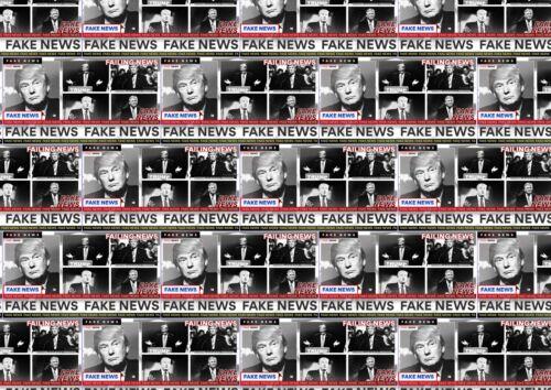 Donald Trump USA UK Democrat Republican birthday party FAKE NEWS Wrapping Paper