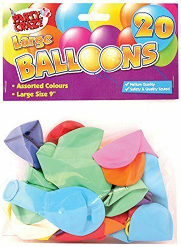 """9/"""" Large Mixed Colours Balloons Helium Quality Birthday Party Decoration Job Lot"""