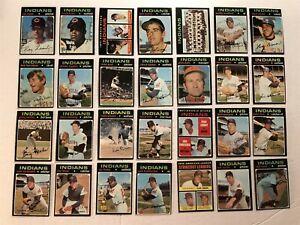 1971-Topps-CLEVELAND-INDIANS-Set-of-28-Cards-RAY-FOSSE-Graig-NETTLES-Sam-McDOWEL