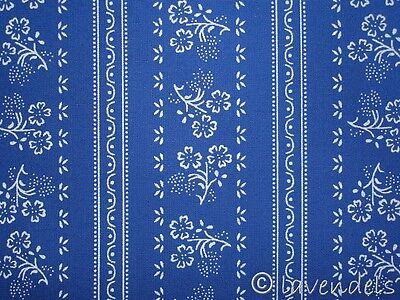 Dirndlstoff ♥Baumwolle blau Trachten Stoff weiß Schürzenstoff  dunkelblau Ranken