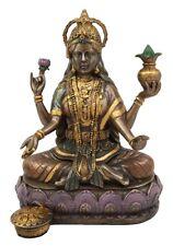 "Hindu Goddess Of Home Fortune Prosperity Lakshmi Shakti Of Vishnu Figurine 6.5""H"
