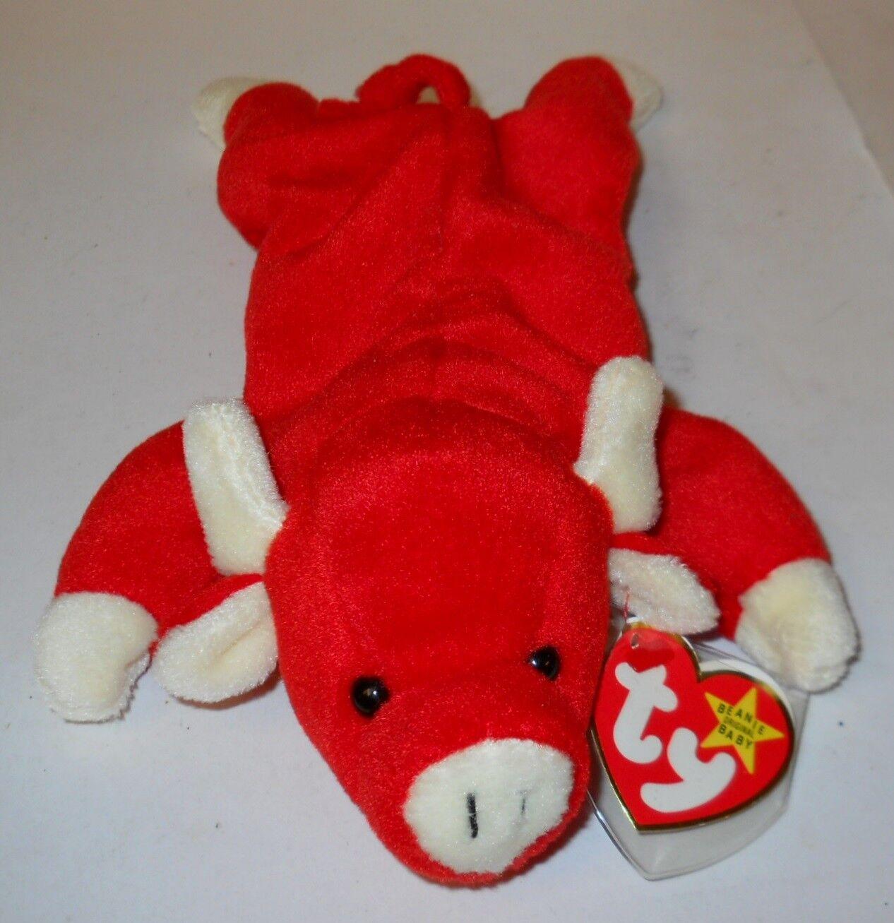 TY BEANIE BEANIE BEANIE BABY 9  SNORT THE RED BULL W TAG ERRORS, STYLE 4002  1995  CLEAN  2be7a7